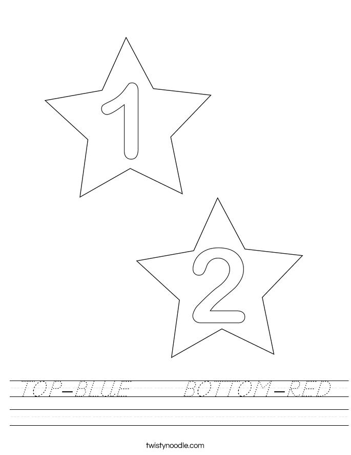 TOP-BLUE      BOTTOM-RED Worksheet