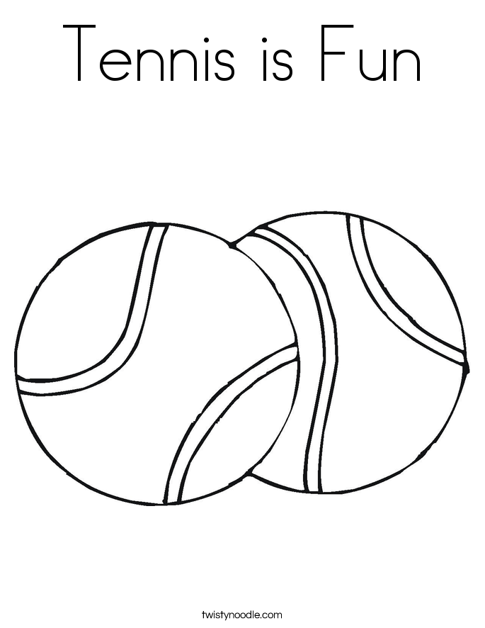 Tennis is Fun Coloring Page