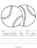 Tennis is Fun Worksheet