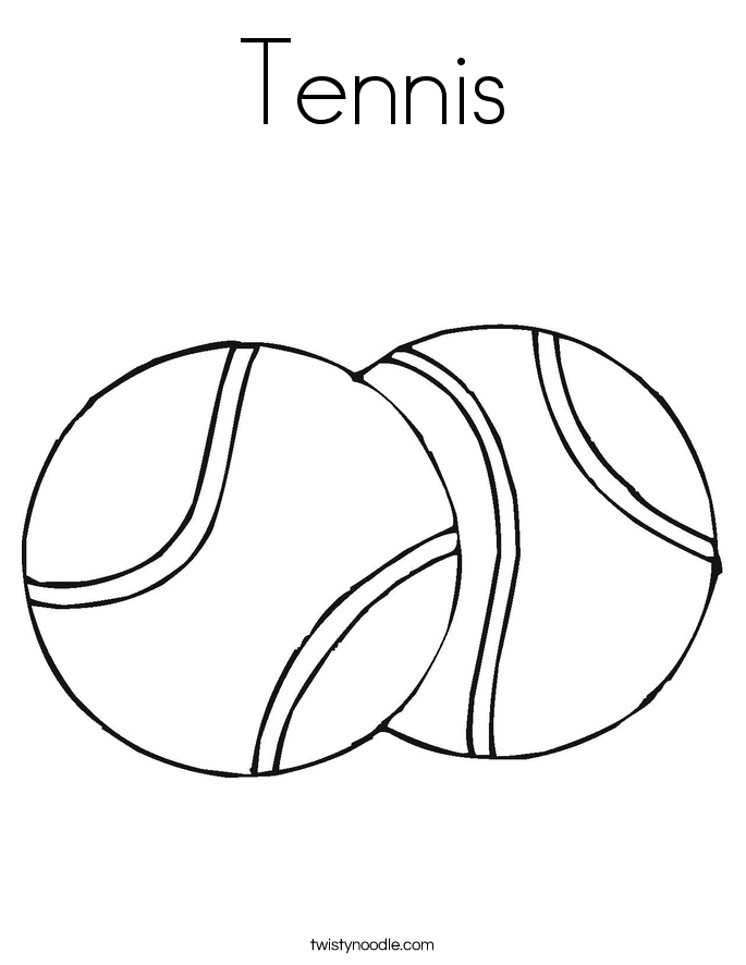Tennis Coloring Page Twisty Noodle