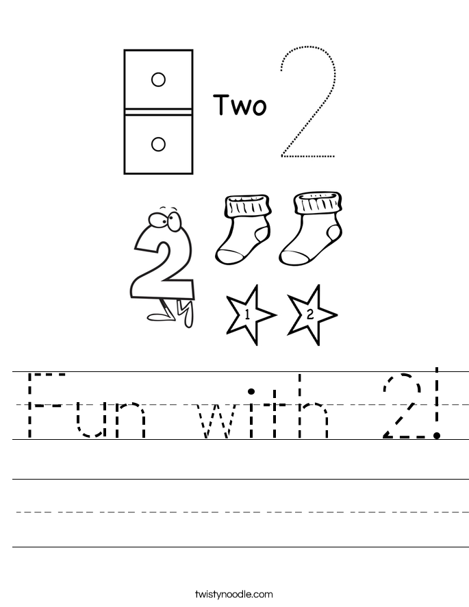 Fun with 2! Worksheet