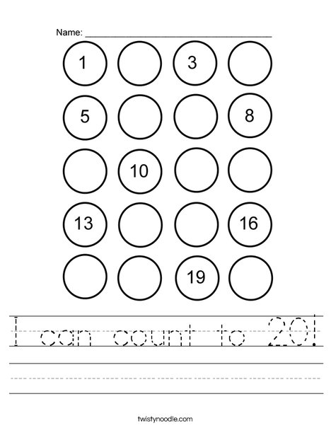 20 Circles Worksheet
