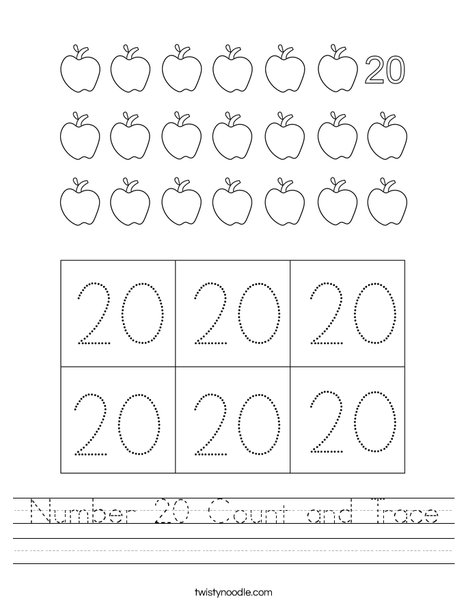 20- Count and Trace Worksheet