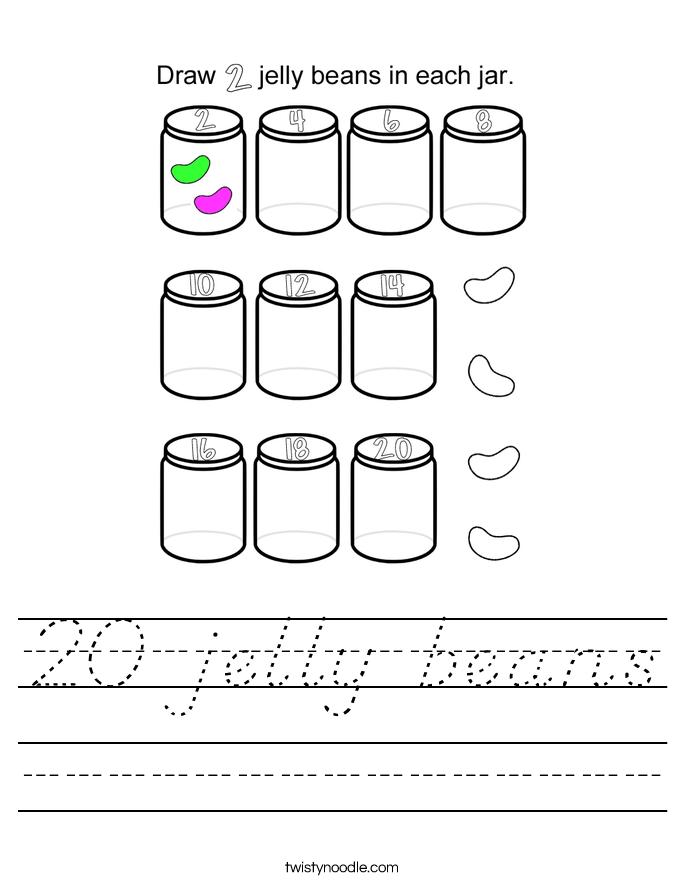 20 jelly beans Worksheet