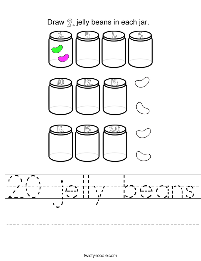 20 jelly beans Worksheet
