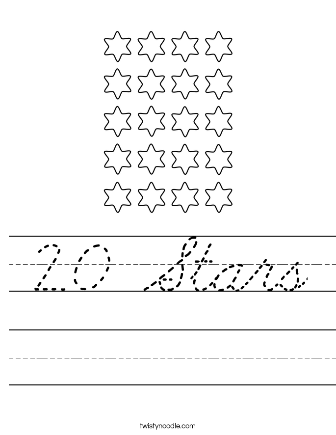 20 Stars Worksheet