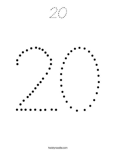 20 Coloring Page