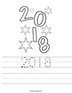 2018 Handwriting Sheet