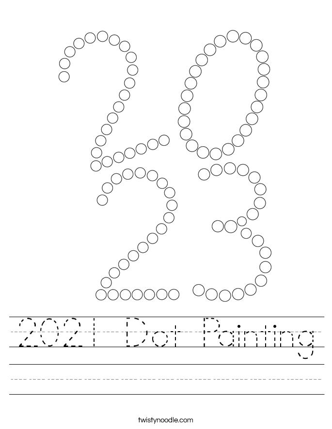 2021 Dot Painting Worksheet