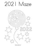2021 Maze Coloring Page