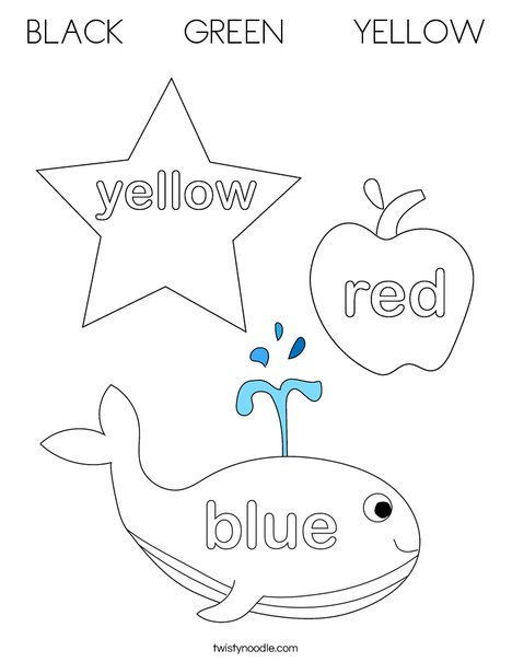 3 Big Crayons Coloring Page
