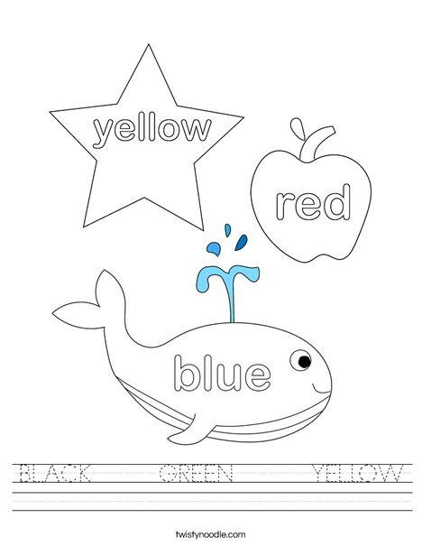 3 Big Crayons Worksheet
