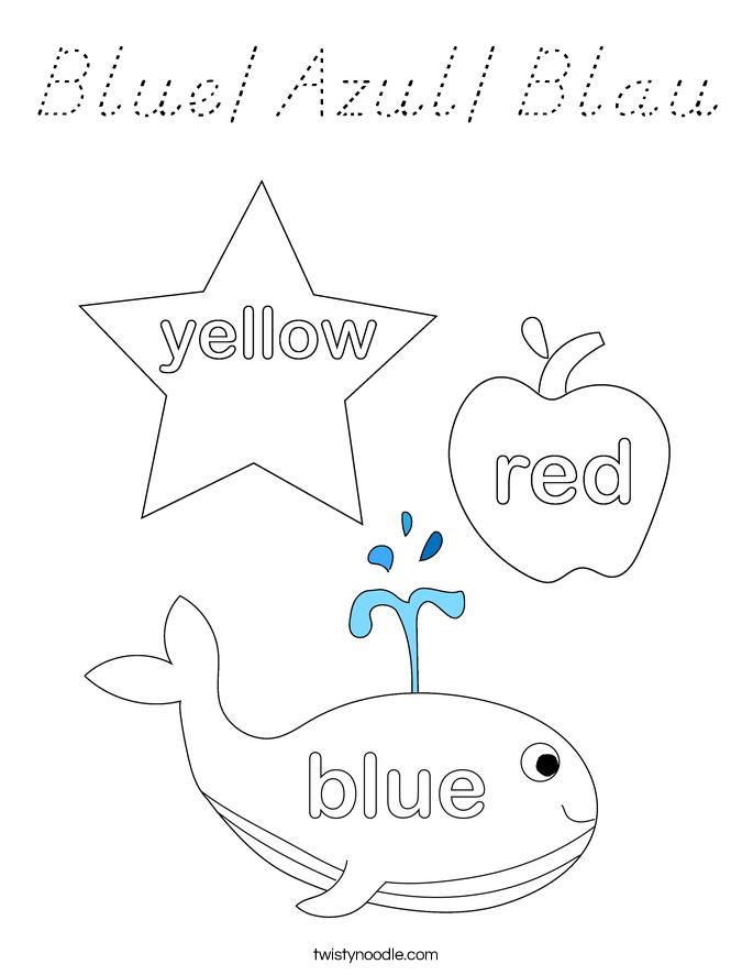 Blue/Azul/Blau Coloring Page