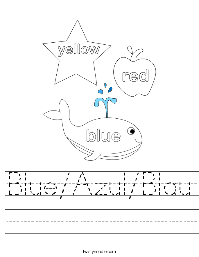 Blue/Azul/Blau Worksheet