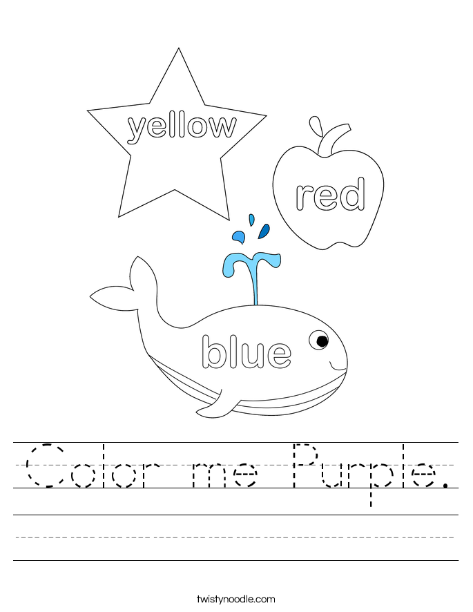 Color me Purple. Worksheet