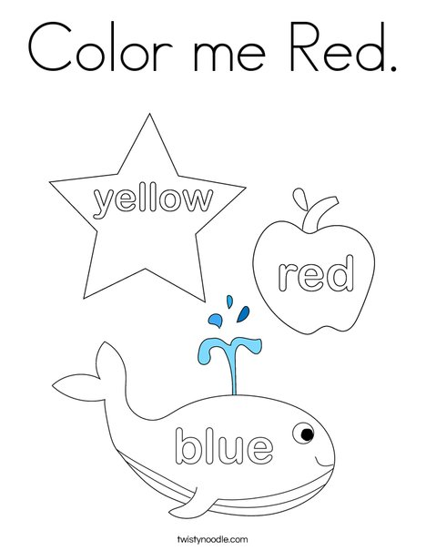Color Me Red Coloring Page