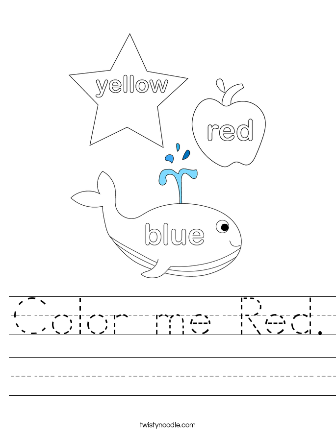 Color me Red. Worksheet