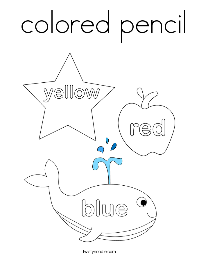 colored pencil Coloring Page