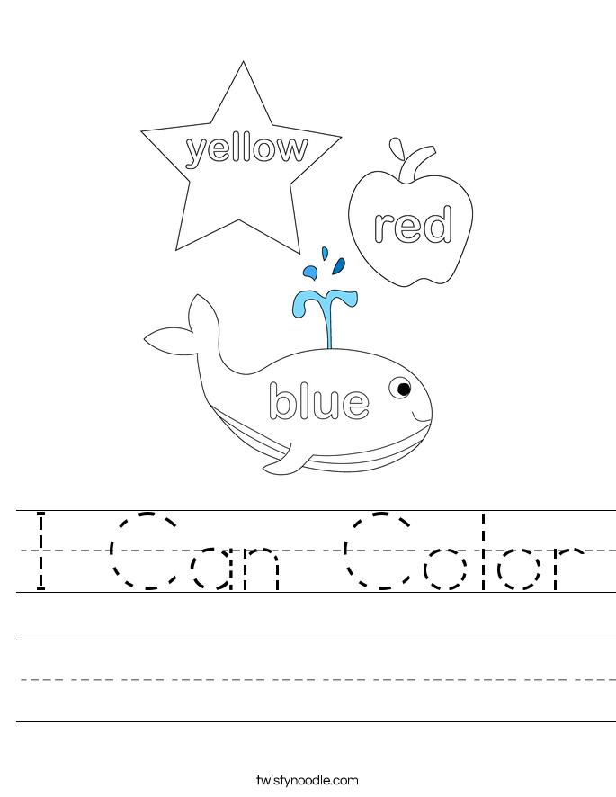 I Can Color Worksheet