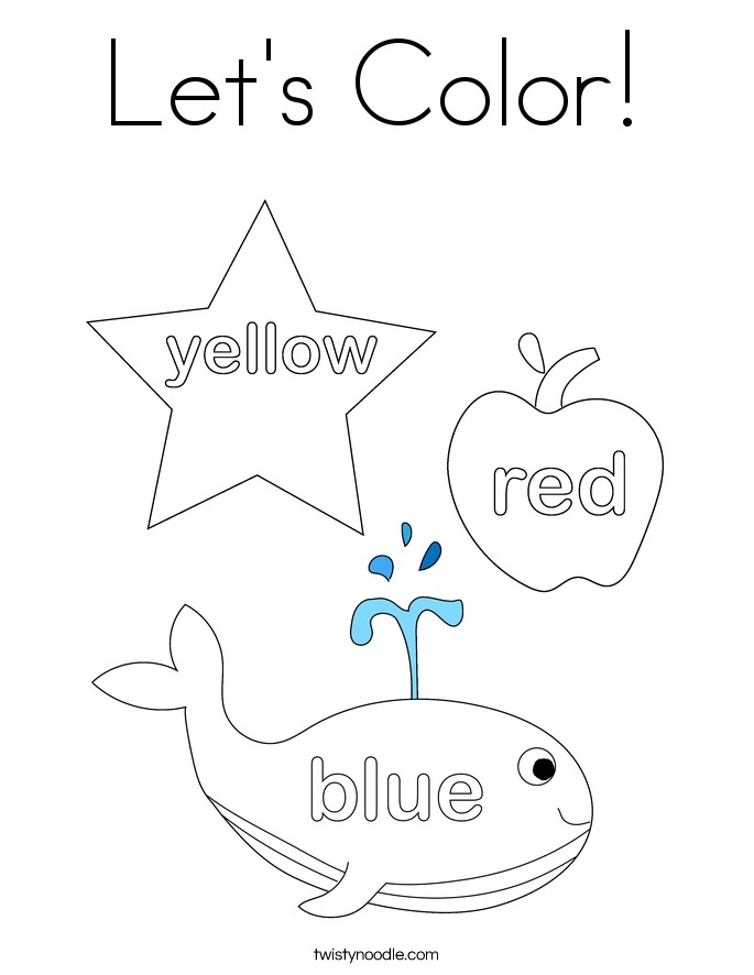 Let's Color! Coloring Page