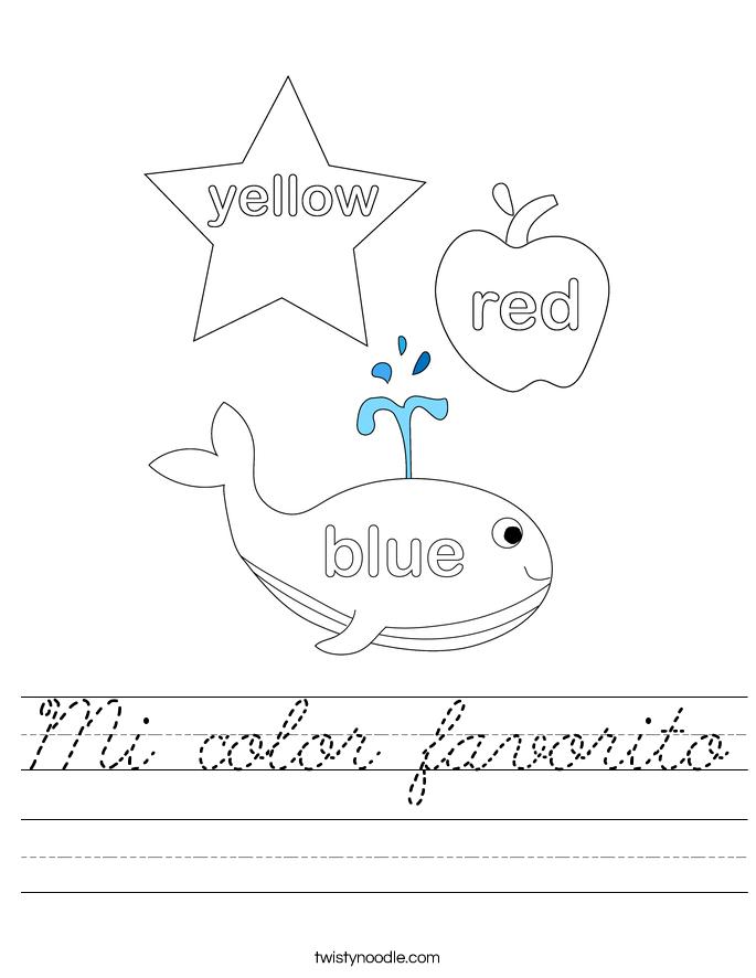 Mi color favorito Worksheet