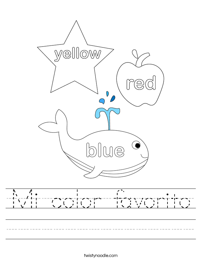 Mi color favorito Worksheet