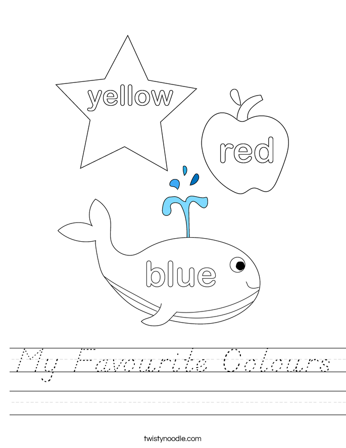 My Favourite Colours Worksheet