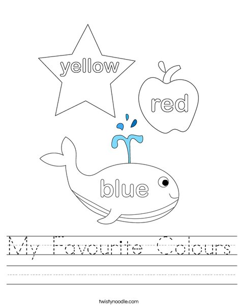 My Favourite Colours Worksheet on Mixing Colours