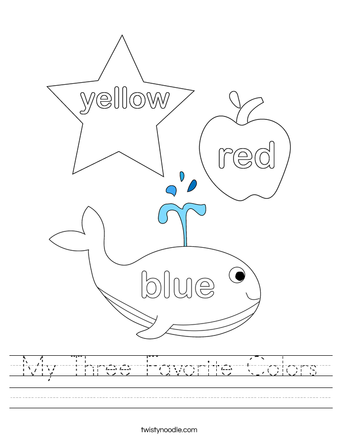 My Three Favorite Colors Worksheet