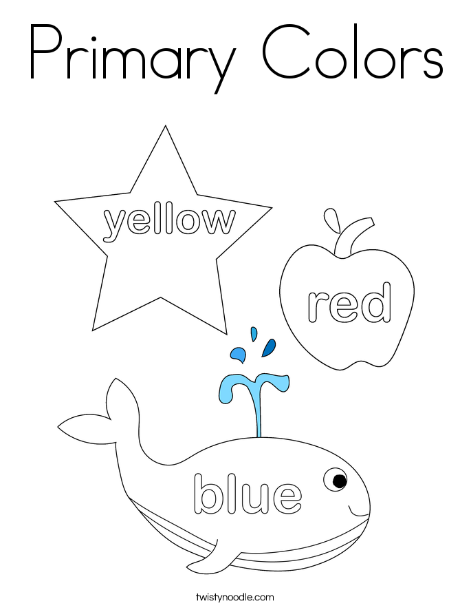 Worksheets Primary Colors Worksheet primary colors coloring page twisty noodle page
