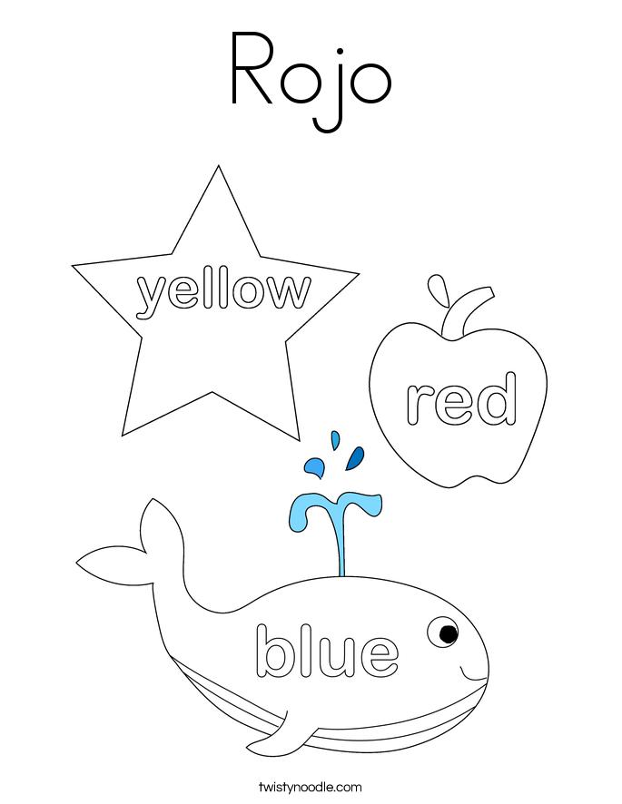 Rojo Coloring Page