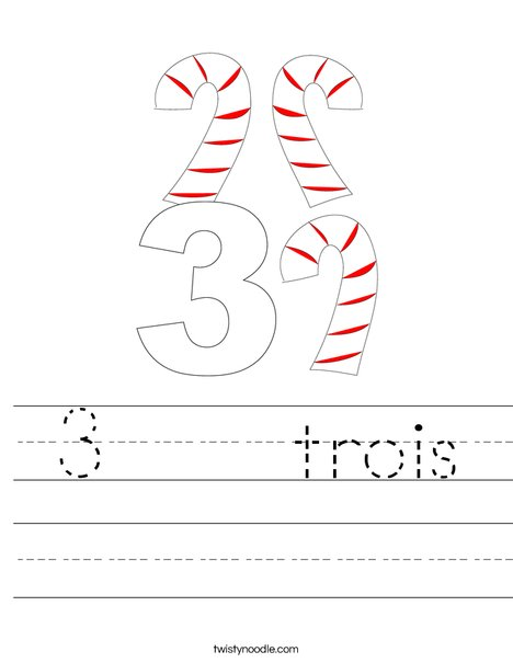 3 Candy Canes Worksheet
