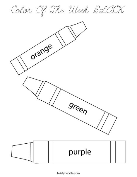 3 Crayons Coloring Page