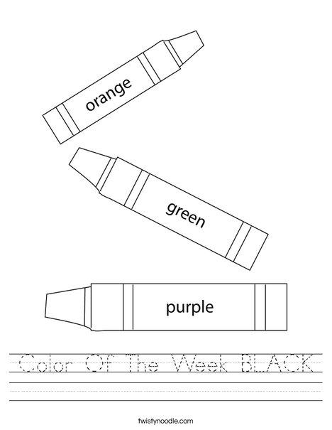 3 Crayons Worksheet