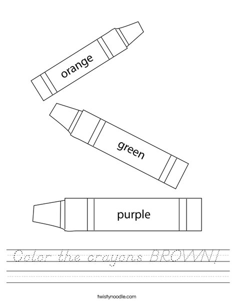 3 Crayons Worksheet