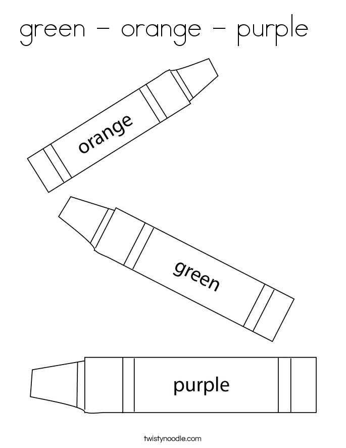 green - orange - purple   Coloring Page