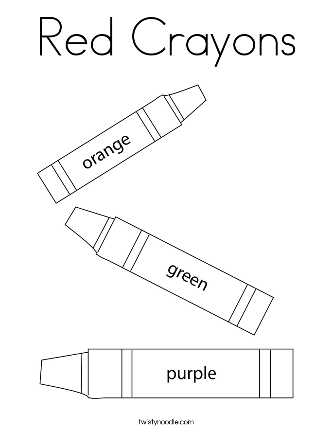Red Crayons Coloring Page - Twisty Noodle