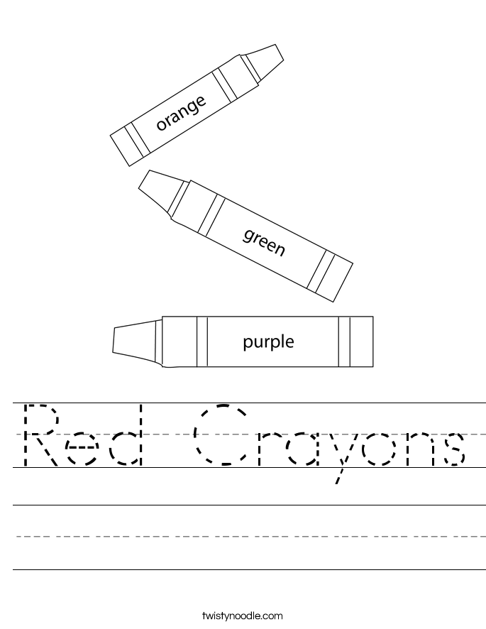 Red Crayons Worksheet