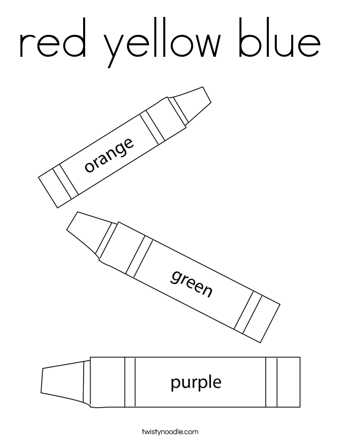 red yellow blue Coloring Page