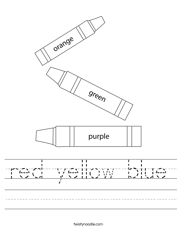red yellow blue Worksheet
