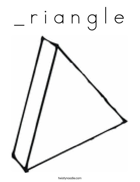 3 Dimensional Triangle Coloring Page