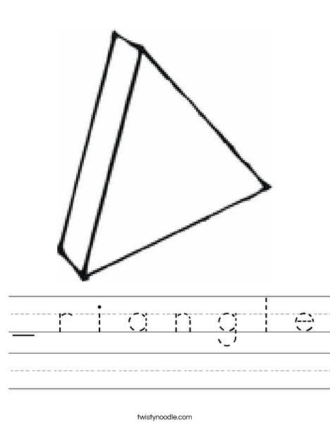 3 Dimensional Triangle Worksheet