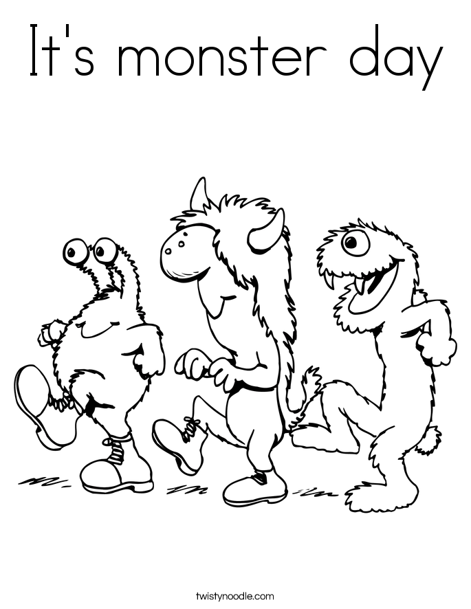 It's monster day Coloring Page