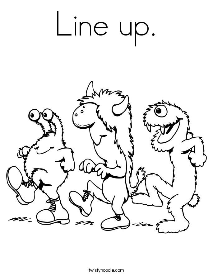 Line up. Coloring Page