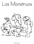 Los Monstruos Coloring Page