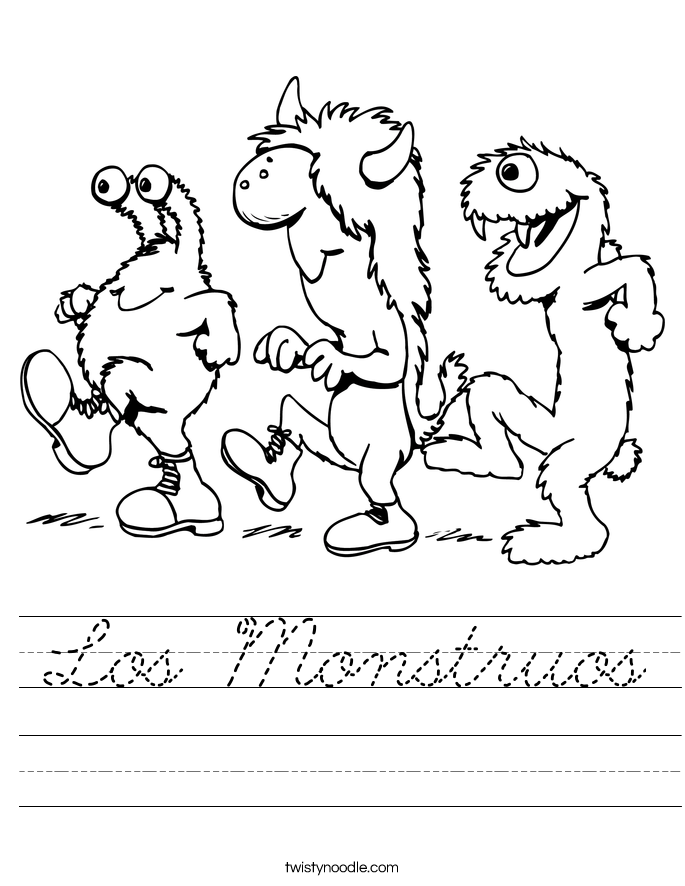 Los Monstruos Worksheet