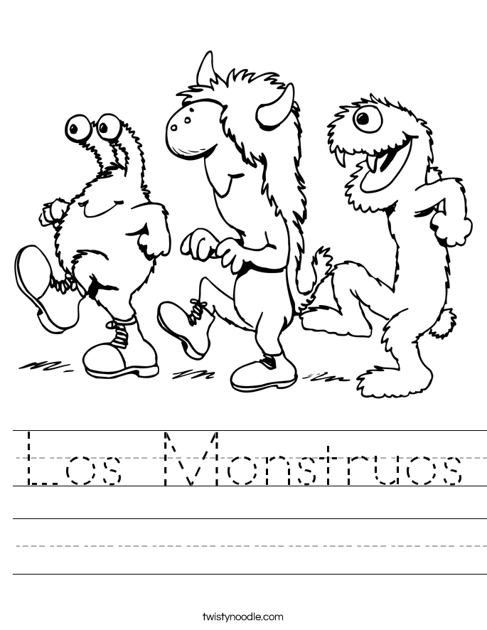 Los Monstruos Worksheet