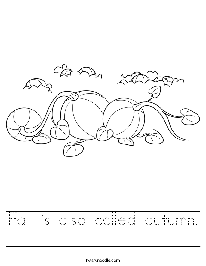 Fall is also called autumn. Worksheet