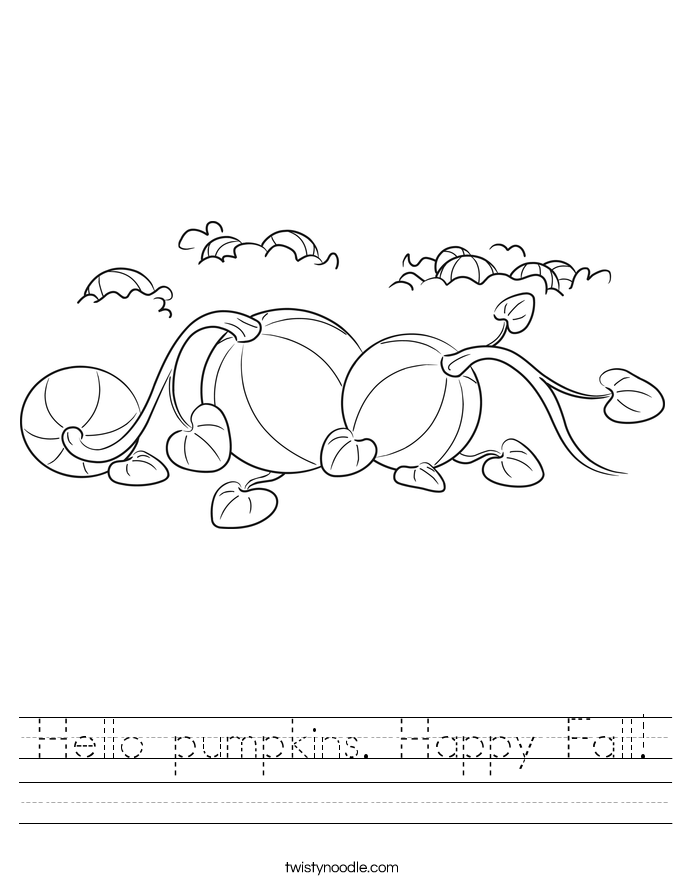 Hello pumpkins. Happy Fall! Worksheet