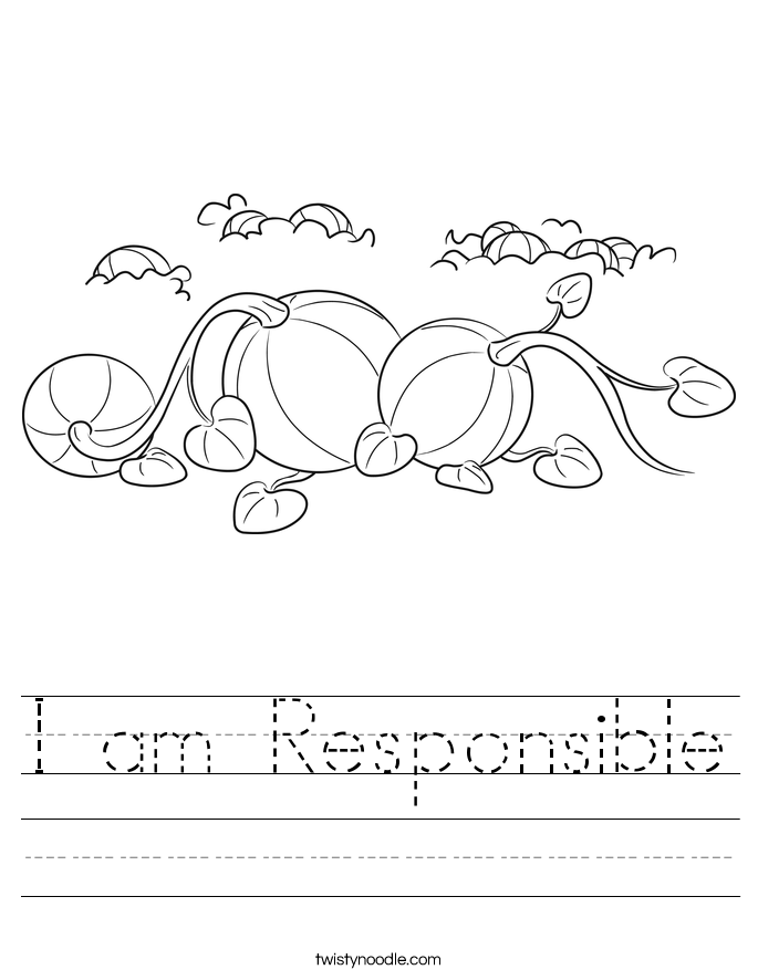 I am Responsible Worksheet